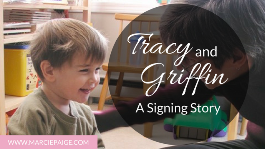 Tracy and Griffin Baby Sign Language Story